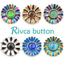 Buy D01293 Hot wholesale High 18mm Metal Snap Button Charm Rhinestone Styles Button fit Rivca Snaps bracelet for $2.42 in AliExpress store