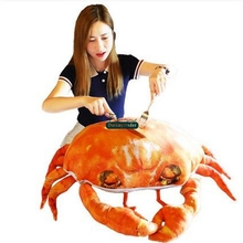 Dorimytrader Cute Realistic Simulated Crabs Plush Pillow Giant Stuffed Animals Toy Doll Seafood Decoration Gifts 58cm x 68cm