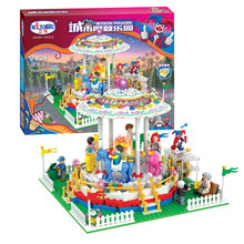 07034 705pcs City modern paradise Merry-go-round Model Building Blocks Toy Bricks Compatible with Lepin Kids Toys Gifts