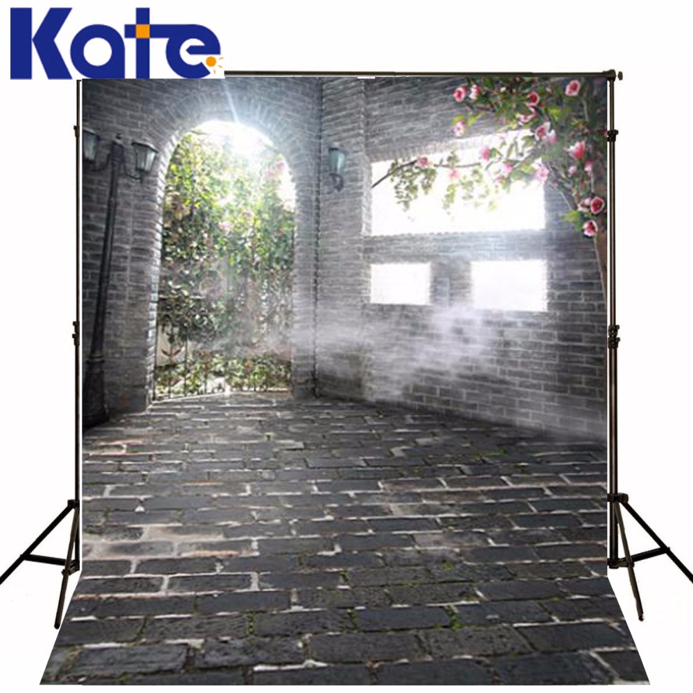 300Cm*200Cm(About 10Ft*6.5Ft) Backgroundsstone House Sunlight Green Leaves Photography Thick Cloth Photography Backdrop 3438 Lk<br>