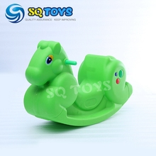 2016 Wholesale 5 Sets Indoor Animal Plastic Green Ride On Toys Rocking Horse Rider Toys(China)