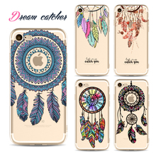 Clear Phone Case Paisley Flower For iPhone 6 6S Plus 7 7S 7Plus Silicon Soft Fundas Mandala Desgin DREAM CATCHER Ethnic Triba