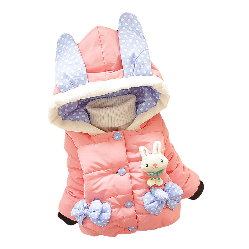 Winter Children Girls Down Jacket Cute Cartoon Rabbit  Baby Down Coat Kids Outwear Infant Clothes for Girl 1-3 YearsОдежда и ак�е��уары<br><br><br>Aliexpress