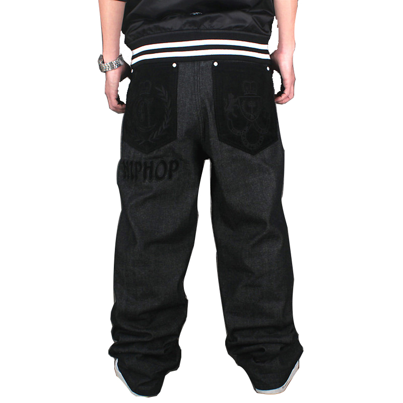 2017 New Mens Hip Hop Baggy Jeans For Street Dancing &amp; Skateboard Loose Fit High Quality Plus Size 30 To 46 Hot SaleОдежда и ак�е��уары<br><br><br>Aliexpress