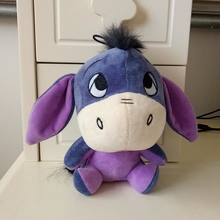 25CM Cute Little Donkey Doll Toy Pony Donkey Plush Toys Long Ears Car Pillow Cushions Girlfriend Children's Toys Gift
