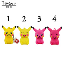 USB Flash Drives Pokemon Pikachu Shape Cartoon 64GB 32GB 16GB 8GB Flash Drive PenDrive Thumb Drives USB Drive