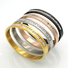New Arrival Famous Brand Jewelry Women/Men Love Bracelets IP Vacuum Plating Titanium Stainless Steel Bangle Bracelet pulseiras(China)