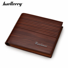 Hot Sale Men Soft TOP Leather Business Short Wallet, Male's Three Layer Folded Vintage Design Quality Purse With Card Holder 002