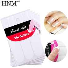 HNM 5 Packs DIY French Manicure Nail Art Tips Nail Sticker Decorations Nail Form Fringe Guides