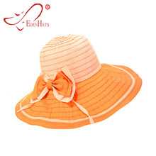 Ladies Wide Braid 2-Tone Sun Hat with Matching Bow Summer Hat Beach Hat S10 cccbfcdf31d3