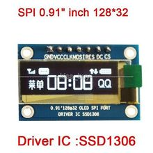 "SPI 0.91"" inch 128*32 OLED white Display Module  Screen SSD1306 DC 3.3v 5v"