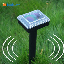 LumiParty Solar Powered Ultrasonic Wave Repel Mice Rats Snakes Sonic Repeller for Outdoor Garden Yard Lawn Farm