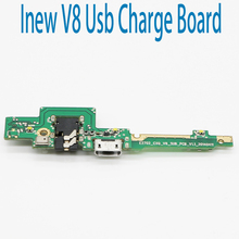 New Original usb plug charge board For Inew V8 Mobile Phone Flex Cables charging module Microphone cell phone Mini USB Port(China)