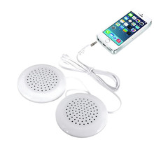 New Portable Pillow Speaker Cute White Louderspeakers Universal 3.5mm for MP3 MP4 CD for iPod Phone
