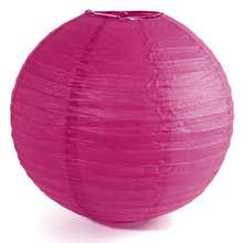 "1 x Chinese Japanese Paper Lantern Lampshade for Party Wedding, 40cm 16"" Fuchsia(China)"