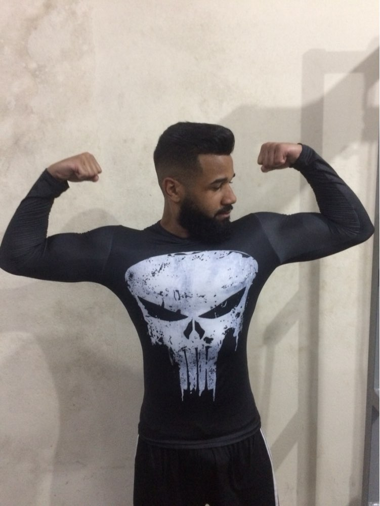 Punisher 3D Printed T-shirts Men Compression Shirts Long Sleeve Cosplay Costume crossfit fitness Clothing Tops Male Black Friday 24