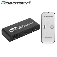Ultra HD 4K*2K 2 in 2 Out HDMI Switcher Converter 1080p 2X2 Audio Video HDMI Splitter & IR Remote Control for XBOX DVD PS3