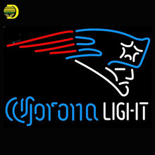 Neon Sign Corona Light New England Patriots Beer Pub Glass Tubes Neon Bulb Signboard lighted signs neon electronic neon light(China)