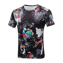 Girls Boys Popular T-shirt summer short sleeve 3D t shirt cock printed children's tops 12-20T