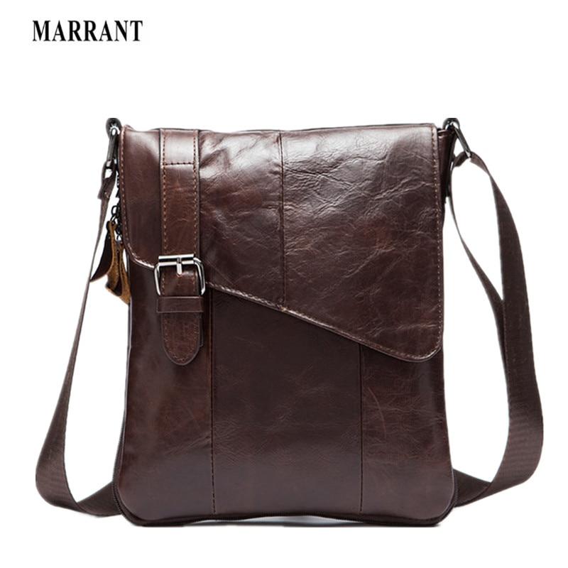 MARRANT 100% Genuine Leather Men bag Fashion men messenger bags Casual shoulder designer handbags mens bags crossbody man bag<br>