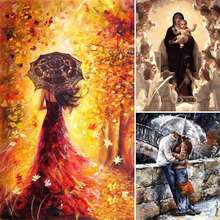 40*50 CM DIY People Theme Oil Painting Frameless Painting By Numbers Canvas Print For Living Room Home Decor