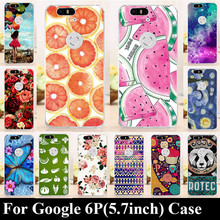 For Huawei Google Nexus 6P 5.7 Inch Hard Plastic Mobile Phone Cover Case DIY Color Paitn Cellphone Bag Shell Free Shipping
