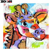 ZOOYA 5D DIY diamond embroidery colorfull giraffe diamond painting Cross Stitch full square Rhinestone mosaic decoration gift(China)