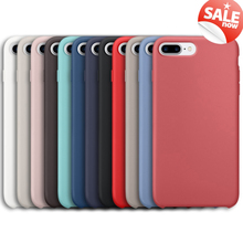 For iPhone X 10 8 7 6 6S Plus 5 5S SE Silicone Silicon Original Case 1:1 Copy Official Phone Bag Cover Capa Coque With Logo