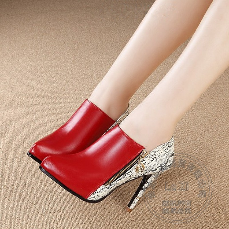 Euro Style Deep Mouth Multi Colored Spring Autumn Hidden Platform Sexy High Shoes Woman Heels Genuine Leather Stiletto<br><br>Aliexpress