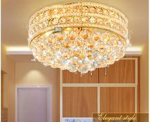 Free Shipping Traditional Modern Golden LED K9 Crystal Lighting Ceiling Lamp D40cm Modern Light Bedroom Lamp Ceiling Light