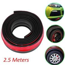 Universal High Quality 2.5M Car Protector Front Bumper Lip Splitter Body Kit Bumpers Valance Chin Accessiories