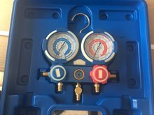 R404a R22 R134A R407C Car Dual Manifold Pressure Gauge Air Conditioner Refrigeration With Refrigerant Tube(China)