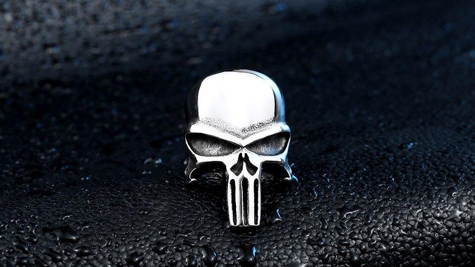 แหวนโคตรเท่ห์ Code 012 แหวน Punisher สแตนเลส 1