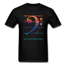 Create Bass Clef Color Man Gift's T Shirts Clever Tee Shirts Sites Male Purple Clothing