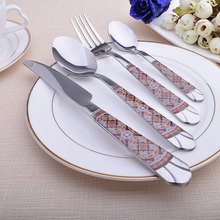 2017 24pcs/Set Silver Cutlery Stainless Steel Dinnerware 24Pc Quality Fork Knife Restaurant Tableware Markdown Sale