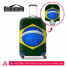 Brazil's flag Suitcase Cover for Trvel Accessories Waterproof Luggage Covers Spandex Luggage Protectors Trolley case Protictive
