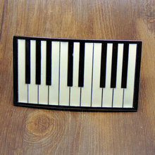 Fashion Music Belt Buckle Metal Piano Keys Zinc Alloy Belt Buckle for Men and Women Apparel Accessories