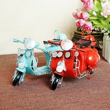 Handmade Crafts Vintage Little Sheep Scooter Roman Style Vespa Motorcycle Model Decorative Gift