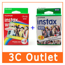 Wholesale Fujifilm Instax Wide Film , Rainbow + White Wide Film , Free Shipping