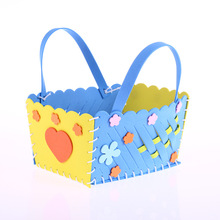 1PC Children Creative DIY Hand Woven Baskets Kids Funny Educatioanal Early Learning Gifts Hand Material Bags Craft Supplies Toys(China)