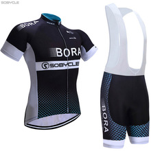 Sobycle 2017 team BORA cycling jersey bike shorts set Ropa Ciclismo quick dry mens pro cycling wear bicycle Maillot Culotte