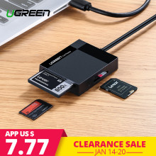 Ugreen кардридер USB 3,0 все в одном SD/Micro SD/TF/CF/MS Compact Flash смарт-карта памяти Адаптер Тип C OTG SD кардридер(China)