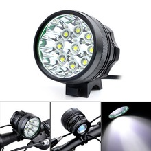 Securitying 10000Lm 9 x XM-L T6 LED Camping Bicycle Light Bike Light Cycling Flashing Light Lamp + 8 x 18650 Battery Pack