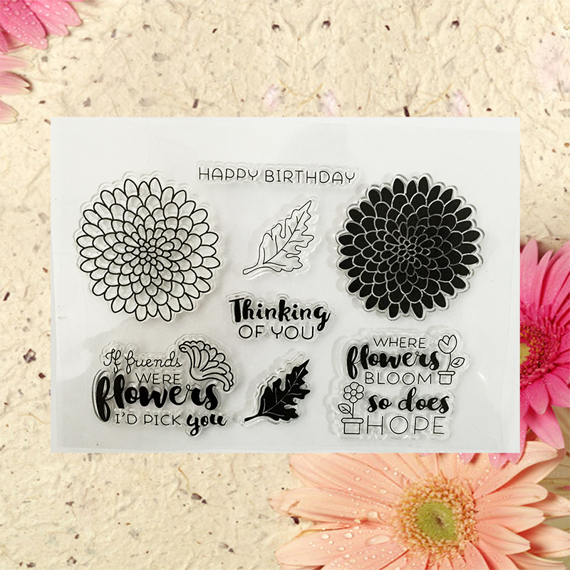 new Scrapbook DIY Photo Album Account Transparent Silicone Rubber Clear Stamps flowers 15x11cm  T-0191<br><br>Aliexpress