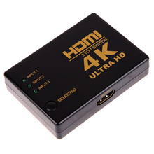 4K*2K 3in 1out HDMI Hub Switch Splitter TV Switcher Ultra HD 3 input to 1 output HDMI switcher for HDTV PC