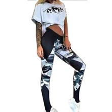 Fashion Camouflage Splice Fitness Legging Women Pants Slim Athleisure Ladies Leggings Women Elastic Push Up Leggins Femme F2