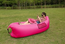 Inflatable Sofa Outdoor Air Sleep Couch Portable Furniture Imitate Nylon External Internal PVC for Summer Camping Beach Indoor