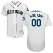MLB Men's Seattle Mariners Baseball Home White Flex Base Authentic Collection Custom Jersey(China)