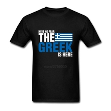 Mens Tee Shirts Have No Fear The Greek Is Here Man Cotton Tshirt Tops Camisetas Custom Male Short Sleeve Clothing T-Shirts game