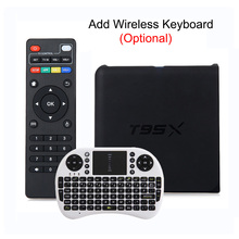 T95X TV BOX Amlogic S905X Android 6.0 Quad Core Max 2GB 8GB H.265 16.1 Full Loaded DLNA Airplay Media Player Set Top Box PK X96